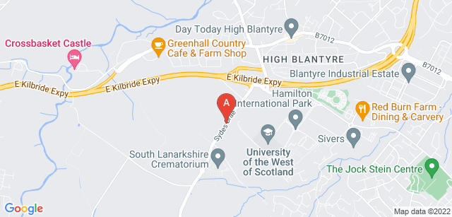 Google static map for South Lanarkshire Crematorium
