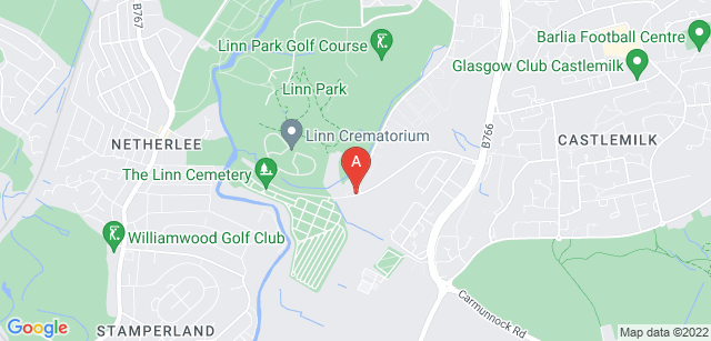 Google static map for The Linn Crematorium
