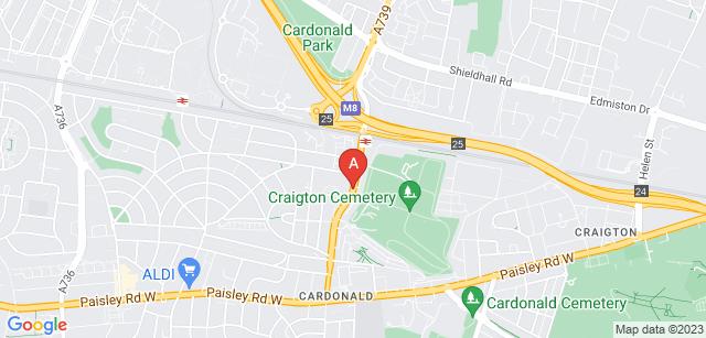 Google static map for Craigton Crematorium