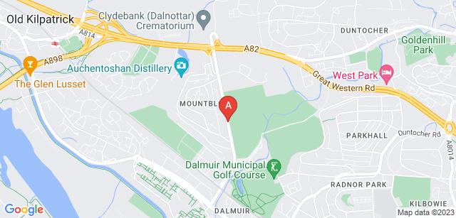 Google static map for Clydebank Crematorium