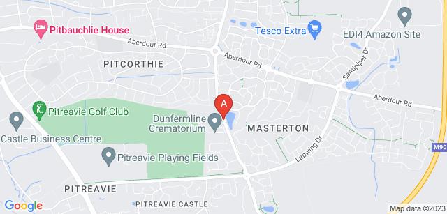 Google static map for Dunfermline Crematorium