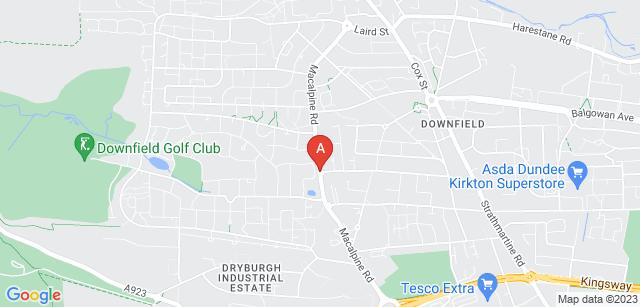 Google static map for Dundee Crematorium