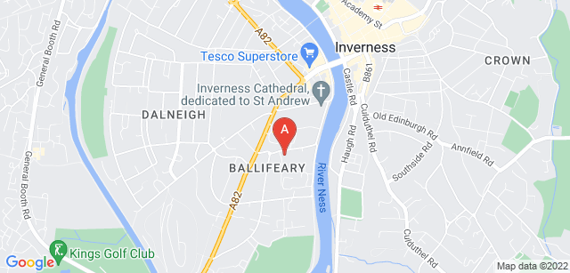 Google static map for Highland Hospice