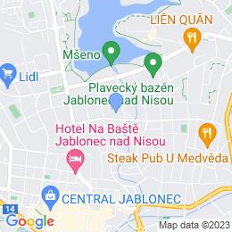 Mapa pobočka Jablonec nad Nisou