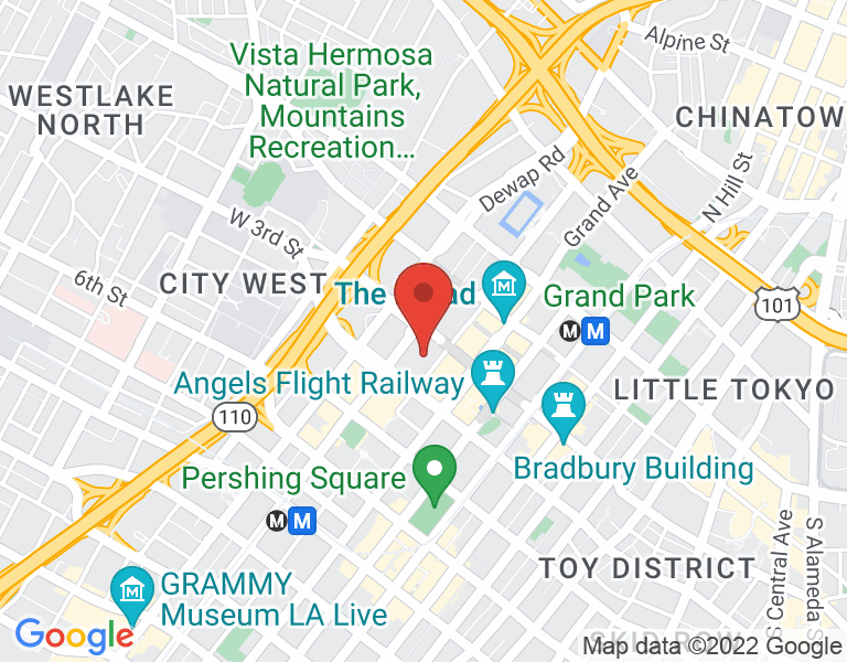 Map of Glaser Weil Downtown LA