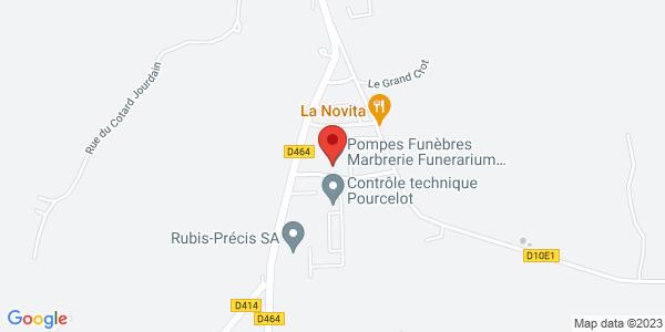 Trouver le marbrier Pompes Funèbres Funérarium et Marbrerie de charquemont sur la carte