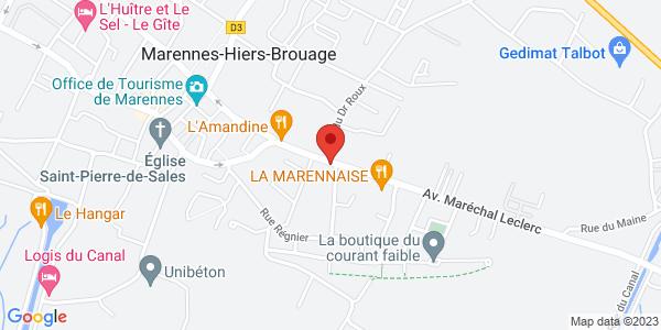 Trouver le marbrier Pompes funèbres Lotte Baudouin sur la carte