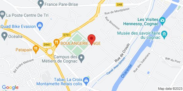 Trouver le marbrier Pompes Funèbres Marbrerie Cognacaises (Ets Garreault Faure) sur la carte