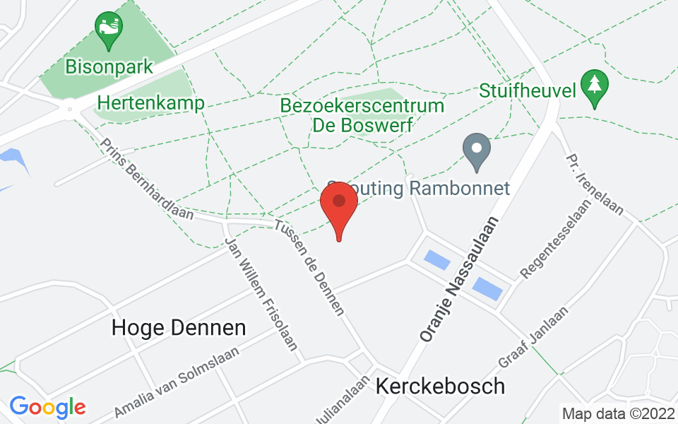 Kaart van Scouting Prinses Amalia Groep Zeist, Padvinderslaan, Zeist, Netherlands, 52.0817355, 5.2607439999999315
