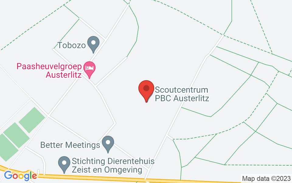 Kaart van Scouting Labelterrein PBC Austerlitz, Woudenbergseweg, Austerlitz, 52.0913543, 5.302161500000011