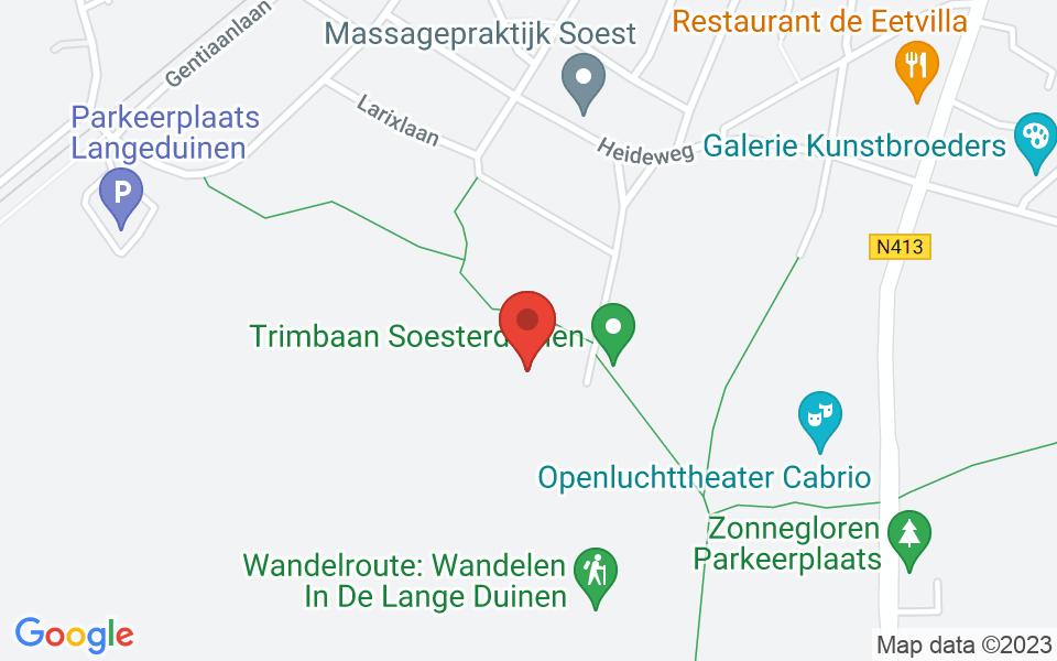 Kaart van Sparrenlaan 22, 3768 BG Soest, Nederland, 52.155479, 5.298957599999994