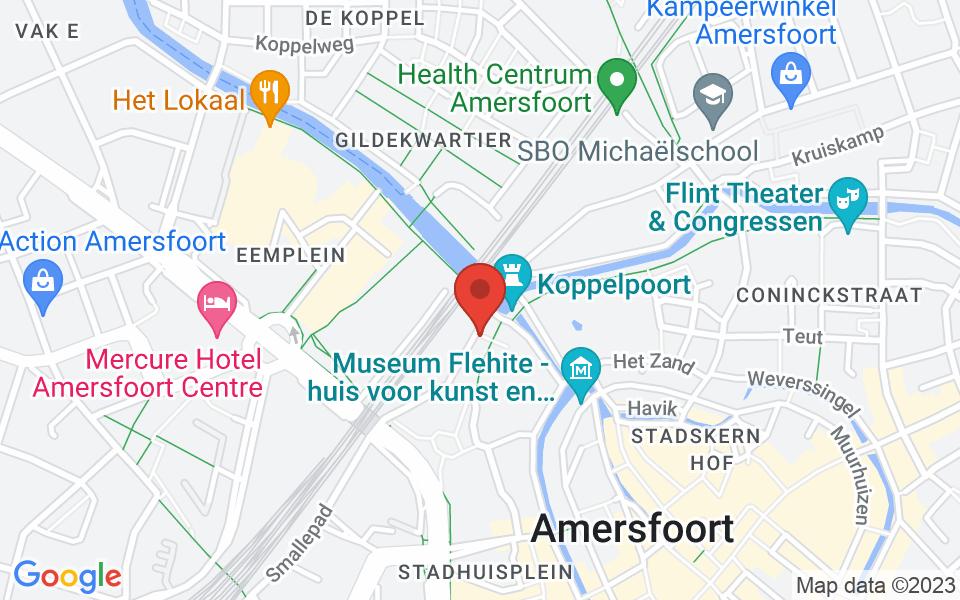 Kaart van Kleine Spui 30, 3811 BE Amersfoort, Nederland, 52.158628136150654, 5.384553419604458