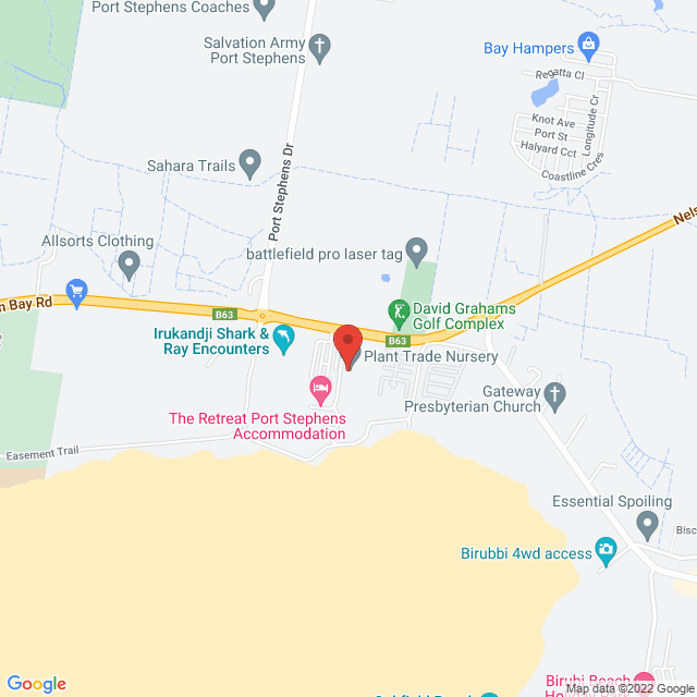 Map to C3 Spectrum Church in Anna Bay, NSW