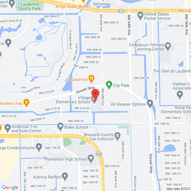 Map to Real Life Church SFL in Sunrise, FL