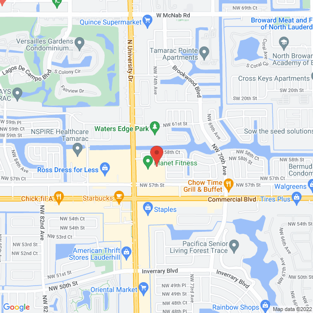 Map to Daybreak Assembly in Tamarac, FL