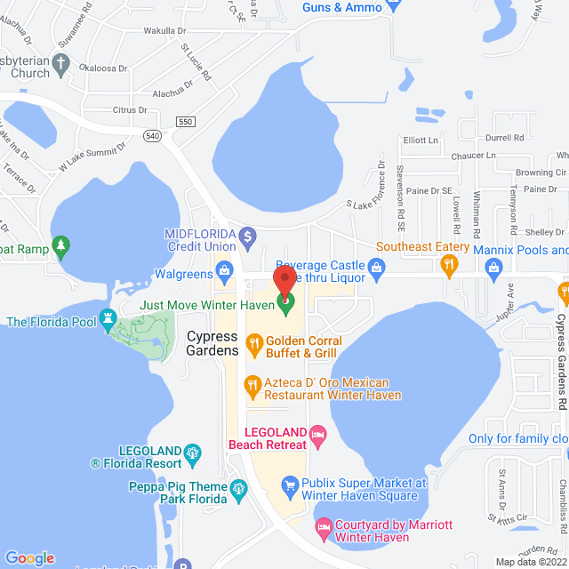 Map to Kairos Church in Winter Haven, Fl