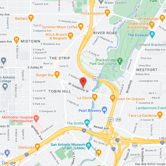 Map to Gathering Midtown Church in San Antonio, TX