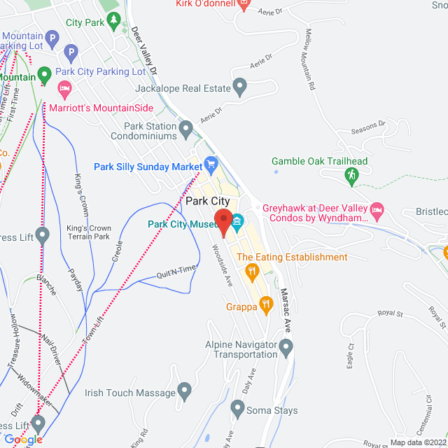 Map to St. Luke's Episcopal Church in Park City, Utah
