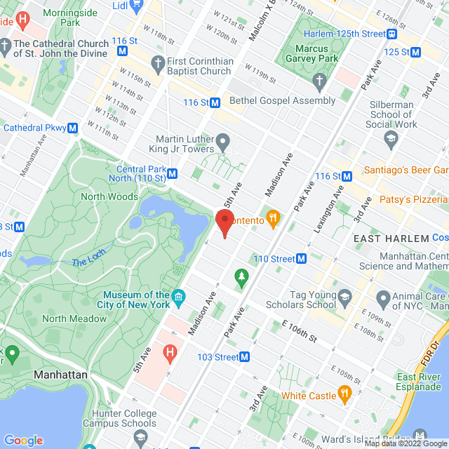 Map to The Church of St. Edward the Martyr in New York, NY