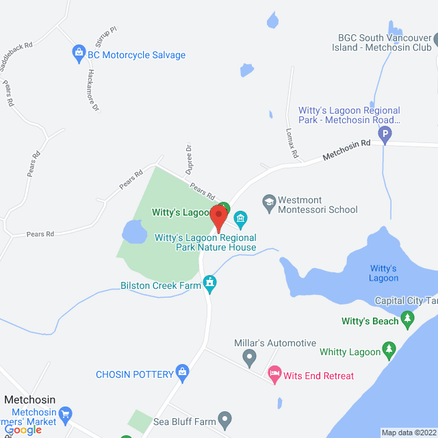 Map to St. Marys' Metchosin in Victoria, BC