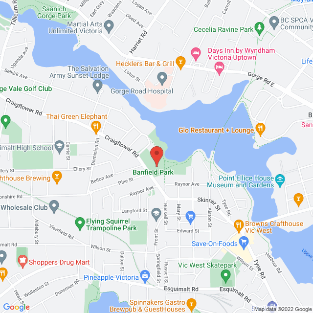 Map to Encounter Church in Victoria, BC