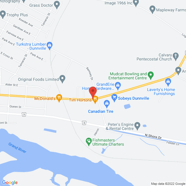 Map to Calvary Pentecostal Dunnville in Dunnville, ON