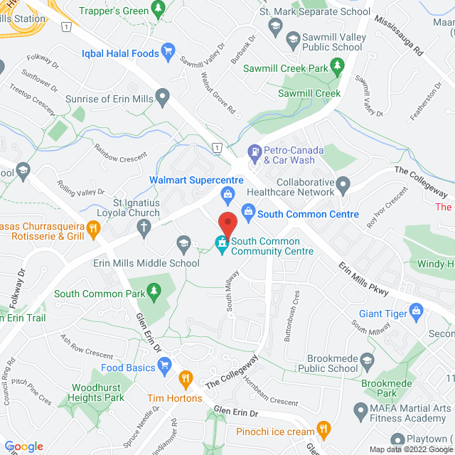 Map to The Chiropractic Office & Health Associates in MISSISSAUGA, ON