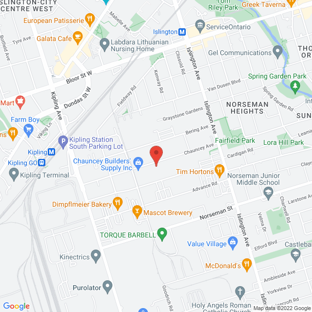 Map to Caruk-Hall Inc. in Toronto, ON