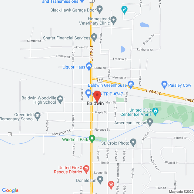 Map to The Forge Chiropractic in Baldwin, WI
