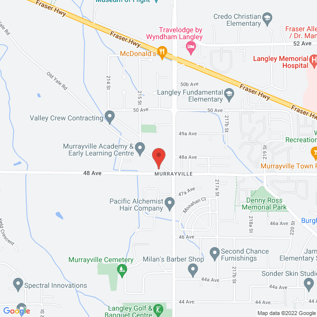Map to United Churches of Langley in Langley, BC