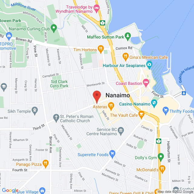 Map to Blossom Tree Counselling in Nanaimo, BC