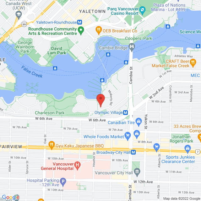 Map to Resilience For Life Massage Therapy Inc in Vancouver, BC