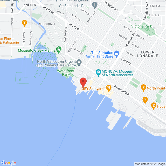 Map to 360 Home Renovations in North Vancouver, BC
