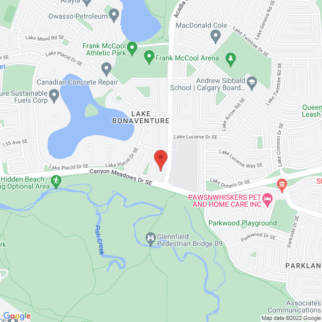 Map to Bonavista Baptist Church in Calgary, AB