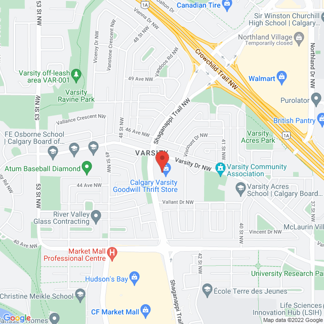Map to Renewal Homeopathy and Wellness in Calgary, AB