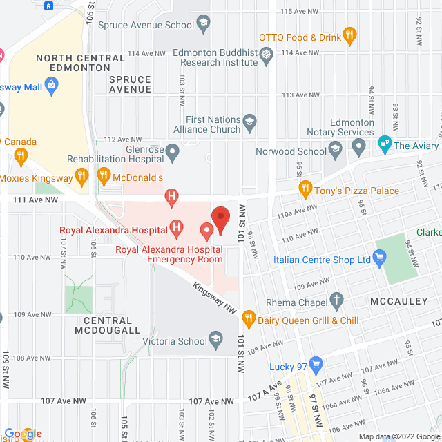 Map to Accessible Acupuncture  in Edmonton, AB