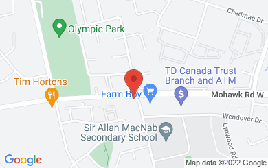 Map to Chedoke Church in Hamilton, ON