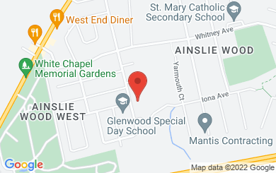 Map to Hamilton Mennonite Church in Hamilton, ON