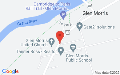 Map to Glen Morris United Church in Glen Morris, ON
