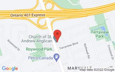 Map to Church of St. Andrew in Toronto, ON