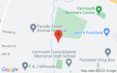 Map to Evangel in Yarmouth, NS