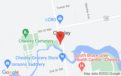 Map to Chesley Community Church in Chesley, ON