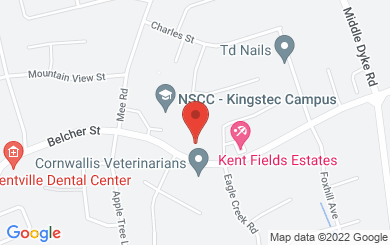 Map to Kingsway Assembly in Kentville, NS