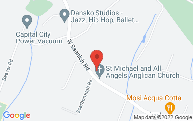 Map to St. Michael & All Angels' Anglican Church in Victoria, BC