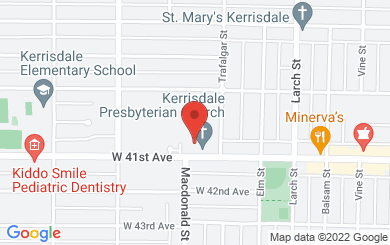 Map to Kerrisdale Presbyterian Church in Vancouver, BC