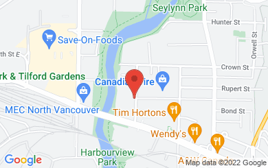 Map to West Coast Wigs in North Vancouver, BC