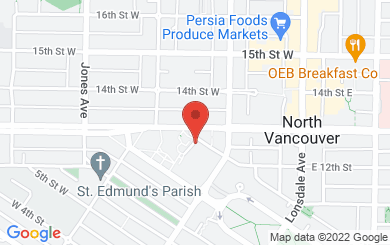 Map to St. John the Evangelist in North Vancouver, BC