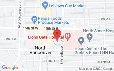 Map to North Shore Restorative Justice Society in North Vancouver, BC