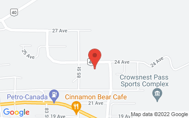 Map to Crowsnest Community Christian Centre in Coleman, AB