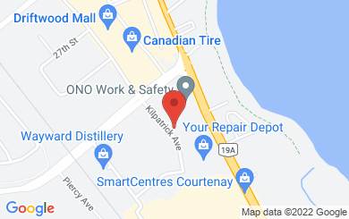 Map to Aaron House Christian Fellowship in Courtenay, BC